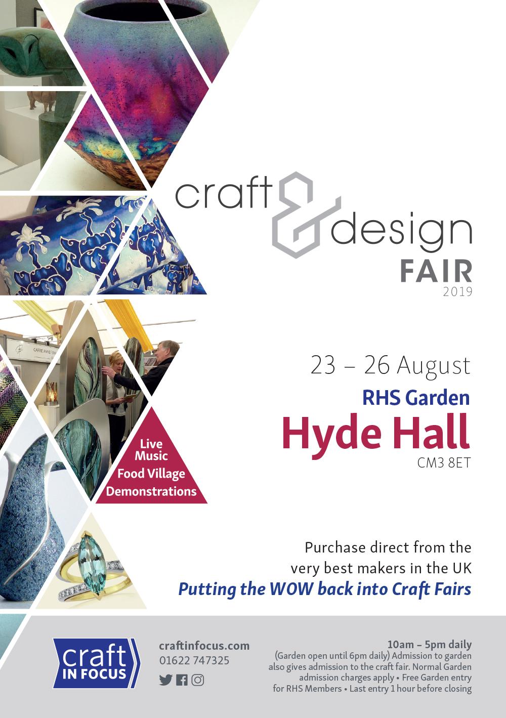 Craft In Focus - RHS Hyde Hall 23-26 August 2019